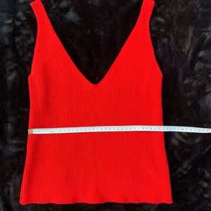 Red Aritzia Knitted Red tank top♥️